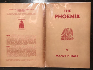 SIGNED - THE PHOENIX, Manly P. Hall Special Ltd Signed Ed 1000 Copies 1956 HC/DJ