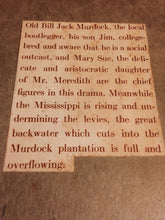 BACKWATER by T.S. Stripling, First Edition, 1930, VERY RARE Southern Miss. Life