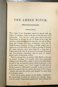 1846 - THE AMBER WITCH - Meinhold - WITCH TRIALS WITCHCRAFT LITERARY HOAX OCCULT