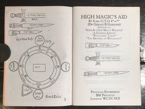 HIGH MAGIC'S AID, Scire (Gerald B. Gardner), 1st Reprint 1994, Scarce Witchcraft