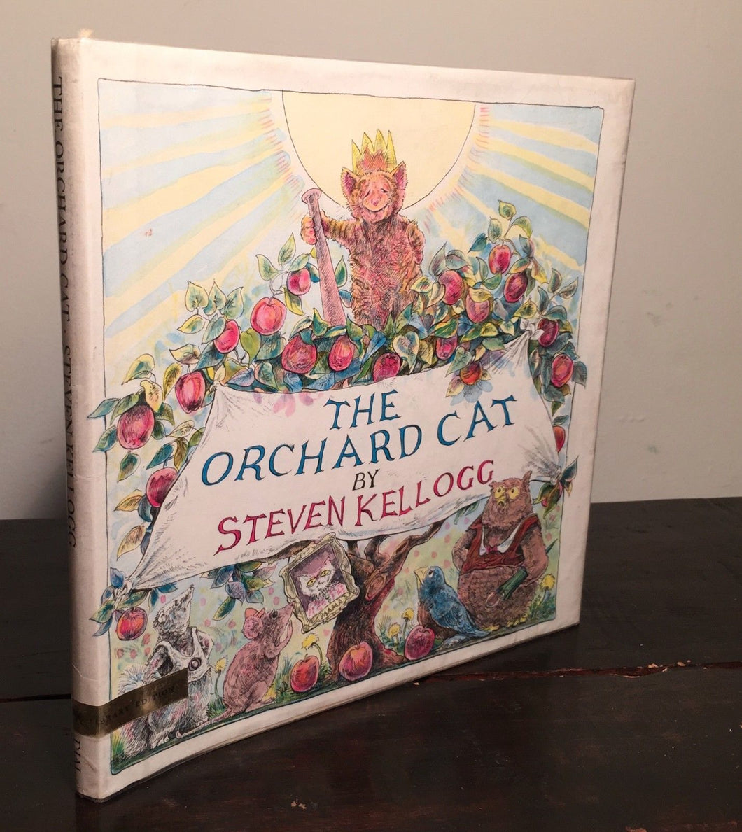 THE ORCHARD CAT Steven Kellogg 1st/1st RARE Library Ed. Signed Pen Drawing 1972