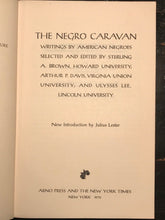 THE NEGRO CARAVAN - WRITINGS BY AMERICAN NEGROS - 1st, 1970 - Af Am Literature