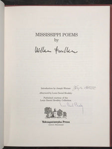 WILLIAM FAULKNER - MISSISSIPPI POEMS, LIMITED ED 301/500, 1979 - SIGNED