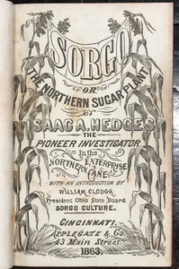 SORGO OR THE NORTHERN SUGAR PLANT – I. Hedges 1st/1st 1863 - Sugar Cane Farming