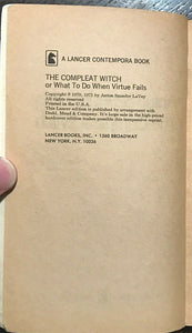 THE COMPLEAT WITCH - Anton LaVey - MAGICK GRIMOIRE SATANISM DEVIL LUCIFER WICCA