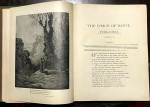 1880s PURGATORY AND PARADISE - DANTE, Illustrations by Gustave Dore HEAVEN HELL