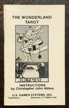 WONDERLAND TAROT DECK - 1989, ALICE IN WONDERLAND TAROT CARDS, NEW OLD STOCK