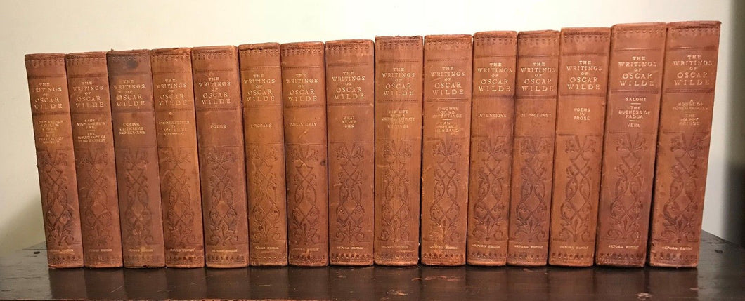 1907 THE WRITINGS OF OSCAR WILDE - Oxford UNIFORM LIMITED ED, 101/250 - 15 Vols