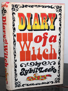 DIARY OF A WITCH by Sybil Leek, 1st Book Club Edition, 1968 HC/DJ