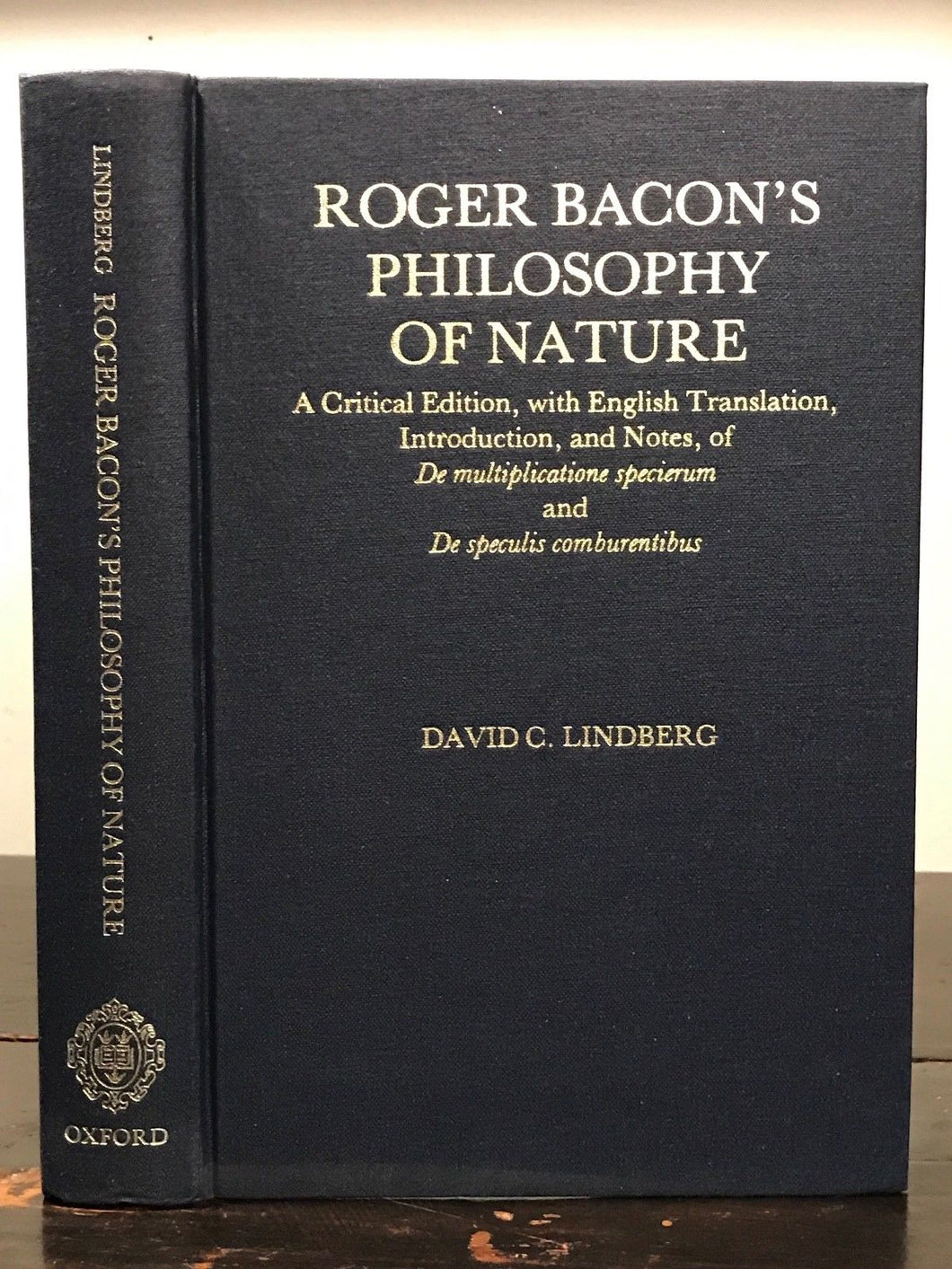 ROGER BACON'S PHILOSOPHY OF NATURE - D. Lindberg - 1st Ed, 1983