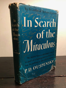 OUSPENSKY - IN SEARCH OF THE MIRACULOUS - 1st/1st 1949 - The Fourth Way, Occult