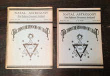 THE BROTHERHOOD OF LIGHT - NATAL ASTROLOGY Pamphlets C.C. Zain, 1922-23