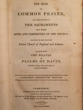BOOK OF COMMON PRAYER Richard Watts Cambridge First Stereotype Edition, 1806