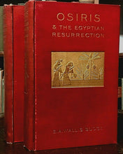 OSIRIS & THE EGYPTIAN RESURRECTION - Budge, 1st Ed 1911 - 2 Vols, MAGIC SPIRITS