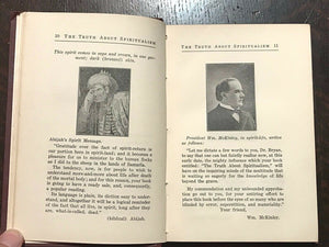 TRUTH ABOUT SPIRITUALISM - 1st Ed 1918 REVIEW or GIFT COPY - IMMORTALITY SPIRITS