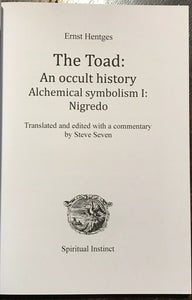 THE TOAD: AN OCCULT HISTORY - 1st Ed, 2016 NUMBERED & SIGNED - MAGICK WITCHCRAFT