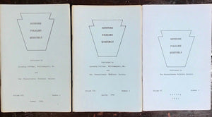 KEYSTONE FOLKLORE QUARTERLY, 1958-1962, PENNSYLVANIA FOLKLORE SOCIETY - 14 Vols