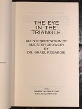 ISRAEL REGARDIE — ALEISTER CROWLEY EYE IN THE TRIANGLE Stated 1st/1st 1970 HC/DJ