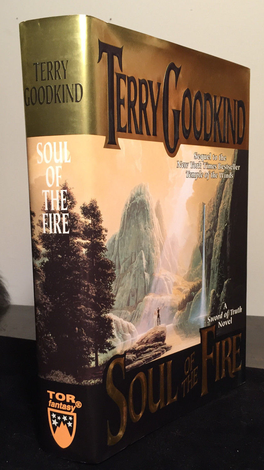 SOUL OF THE FIRE, Terry Goodkind 1st/1st 1999 HC/DJ Excellent Condition, SIGNED