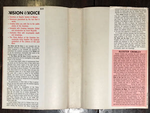 ALEISTER CROWLEY ~ THE VISION AND THE VOICE, 1st / 1st HC/DJ, 1972 REVIEW COPY