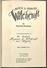 ANCIENT & MODERN WITCHCRAFT - Buckland, 1st Ed 1970 - MAGICK WICCA WITCHES