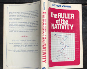RULER OF THE NATIVITY Alexandre Volguine, 1st/1st 1973, HC/DJ Astrology Illustr.