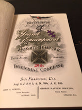 PROCEEDINGS OF THE GRAND ENCAMPMENT KNIGHTS TEMPLAR 29th TRIENNIAL CONCLAVE 1904