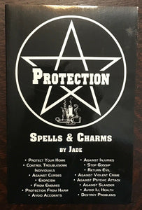 PROTECTION SPELLS & CHARMS - Jade, 1st Ed 1986 MAGICK WITCHCRAFT WICCA GRIMOIRE