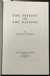 ALICE BAILEY - DESTINY OF THE NATIONS - 1978 AQUARIAN SPIRIT CITIES COUNTRIES