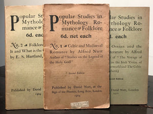 POPULAR STUDIES IN MYTHOLOGY ROMANCE & FOLKLORE - NUTT Complete Set 16 Vols 1908