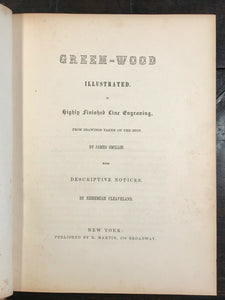 THE RURAL CEMETERIES OF AMERICA: GREEN-WOOD ILLUSTRATED - 1st Ed, 1847 GRAVEYARD