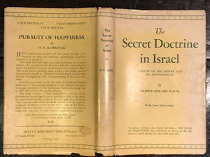 A.E. WAITE — THE SECRET DOCTRINE IN ISRAEL, 1st/1st (Weiser) 1955 HC/DJ KABALISM