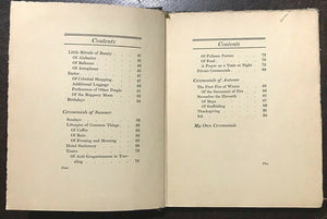 1926 CEREMONIALS OF COMMON DAYS - Abbie Graham - LESBIAN POETRY WOMEN'S SUFFRAGE