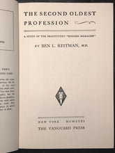THE SECOND OLDEST PROFESSION - Reitman -1st HC/DJ 1931 - PROSTITUTION PIMPS