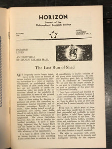 MANLY P. HALL - HORIZON JOURNAL - Full YEAR, 4 ISSUES, 1948 - PHILOSOPHY OCCULT
