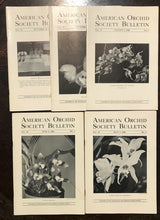 AMERICAN ORCHID SOCIETY BULLETIN, Original 1946 Issues (5 Journals) JUNE-OCTOBER