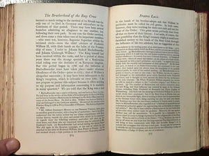BROTHERHOOD OF THE ROSY CROSS - AE Waite, 1st Ed 1924 - ROSICRUCIAN ALCHEMY