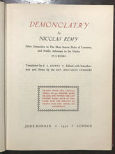 DEMONOLATRY - Nicolas Remy, 1970 - WITCHCRAFT WITCHES TRIALS SATAN OCCULT
