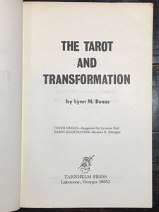 SIGNED - THE TAROT AND TRANSFORMATION - LYNN BUESS, 1st/1st 1973 - TAROT WICCA