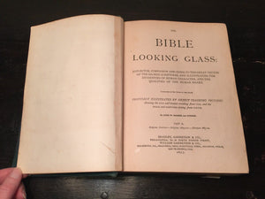 BIBLE LOOKING GLASS John Barber, 1875 Religious Emblems Allegories — Illustrated