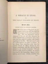 MIRACLE IN STONE or THE GREAT PYRAMID OF EGYPT - JOSEPH SEISS 1881 ANCIENT EGYPT