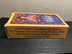 ART NOUVEAU TAROT Card Deck by Matt Myers, 1989, NEAR MINT CONDITION Belgium
