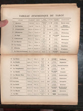LA SYNTHESE DU TAROT - Muchery, 1st Ed 1927 HOROSCOPE ASTROLOGY TAROT CARTOMANCY