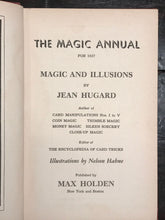 HUGARD'S ANNUAL OF MAGIC by Jean Hugard, 1st/1st 1937, Illustrated Magic Tricks