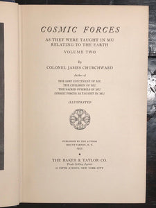 COSMIC FORCES AS THEY WERE TAUGHT IN MU - Churchward 1st/1st 1935, V.II ATLANTIS