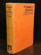 THE SNAKE OF LUVERCY by MAURICE RENARD, 1st / 1st 1930 FRENCH SCI FI / HORROR