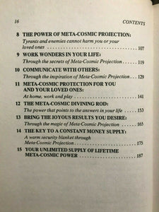 SECRETS OF META-COSMIC PROJECTION, Monahan, 1st Ed 1977 - OCCULT MANIFESTATIONS