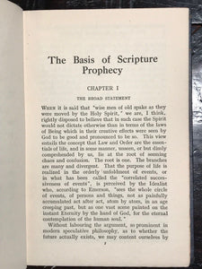 SEPHARIAL - THE BASIS OF SCRIPTURE PROPHECY, 1st/1st 1920 - BIBLICAL PROPHECY