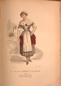 OEUVRES DE MARIVAUX, E. FOURNIER 20 HANDCOLORED PLATES, FRENCH COMEDY DRAMA 1880