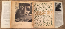 ECCLESIASTES OR THE PREACHER Ben Shahn Scarce Dust Jacket Bible Scripture Hebrew